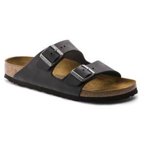 Sorte læder Arizona sandaler fra Birkenstock. Kun prøvet på og gået i herhjemme én gang. Bytter ikke :)