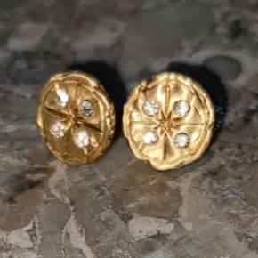 Øreringe pilgrim guldbelagt krystal