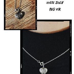 Smuk hjerte halskæde i ægte sølv  🧡