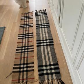 To skønne Burberry lana cashmere halstørklæder sælges.  Mål 130x20 cm  Mp pr stk 1000kr