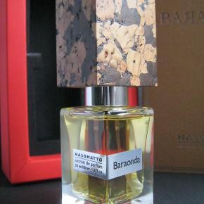 """Nicheparfumen """"Baraonda"""" fra Nasomatto. Fantastisk whiskey duft til efteråret og vinteren. Lige købt og prøvet med et enkelt spray, så som ny i original æske med travel cap som ses på billederne. Købspris 124euro/950kr"""