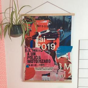 Artprint af collage med plakater indsamlet i Berlin. Måler 50x70 cm, signeret og nummereret. Begrænset oplag. Gratis fragt