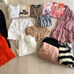Lækker pakke med både bukser, kjole, toppe, t-shirts, tørklæder mm. Str 38-40.  Mærker som Custommade, Malene Birger, Rabens Saloner, Baum, Samsøe mfl.   Bytter desværre ikke..