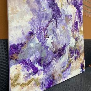 """100x100 cm Flot maleri sælges meget billig alt skal væk derfor så billig før pris 1500kr nu kun 450 kr  """"Art By Kata"""""""