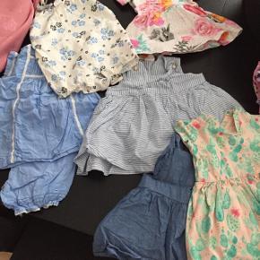 5 bodyer lange ærmer. 5 kjoler og 4 buksedragte. Kun brugt en gang.