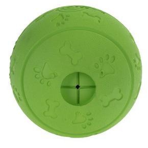 Solid gummi snackbold til at påfylde med godbidder, et avanceret tunnelsystem sikrer afmålt frigivelse af indholdet, til hunde, størrelse: ca Ø 10,5 cm.