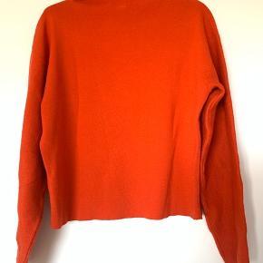 Rød, højhalset sweater fra H&M i str. S  #30dayssellout
