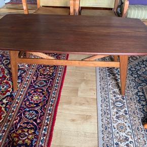 teak træ  Smart Sofabord  som kan hæves op som en spisebord 2 i en  Mål Sofabord Højde 50cm og kan hæves længere oppe spisebord størrelse 65cm  Brede 60 cm Længte 124 cm