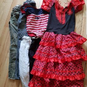 Bukser, leggings, badedragt, kjole.
