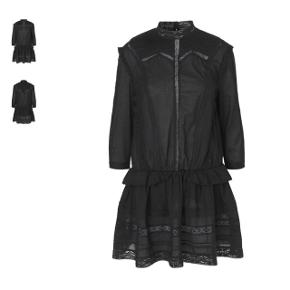 BYD GERNE 🌸 BYTTER IKKE Smuk sort kjole med blondedetaljer fra Ravn i størrelse small. Aldrig brugt. Nypris omkring 2000 kroner.   SENDER MED DAO 🌸 KØBER BETALER PORTO
