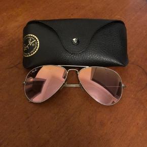 Ray-Ban Aviator solbriller Rosa/lyserøde farvede glas   Pæn stand.