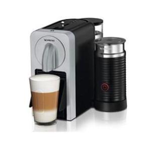 Nespresso maskine fra DeLonghi, Prodigio & Milk Der er mælkeskummer, automatisk slukning samt trådløs styring af funktioner via mobilapp. Farven er sort/sølv.  Der medfølger lidt kaffekapsler og afkalkning.  Den er brugt, men fremstår som ny.  Handles kontant eller via mobilpay.  Skal afhentes.