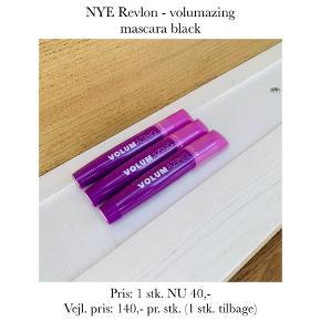 NYE Revlon - volumazing mascara black  Pris: 1 stk. NU 40,-  Vejl. pris: 140,- pr. stk. (1 stk. tilbage)   Se også over 200 andre nye produkter, som jeg har til salg herinde :-)