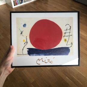 Miro Sole Rosso painting, frame included (high quality bought at Posterland). Original price for painting + frame 300. 24x30