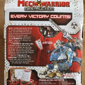 Mechwarrior Age of Destruction 2 spiller starter sæt. Figurspil med 10 malede figurer og alt, hvad man skal bruge for at spille 2 mod 2. Helt nyt.