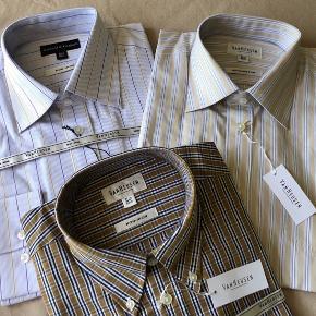 Lækker skjorte fra VanHeusen str 41/92 cm - har aldrig været brugt   full cut:  Krave 41 cm - bryst 124 cm - talje 119 cm og ærmer 92 cm   100% bomuld model Kensington   Sælges for kr. 150 incl. Dao forsendelse