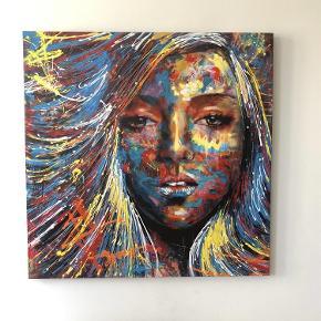 Varetype: maleri Størrelse: 110x110 Farve: Mange Oprindelig købspris: 1600 kr.