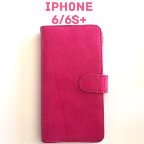 IPhone 6/6S plus cover.  Pink med ekstra klap for plads til mange kreditkort.   Sender gerne, køber betaler for Porto.  Vægt: 108g Porto 36kr med Dao.