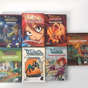 7 bøger fra W.I.T.C.H serien. Sælges samlet for 80 kr. Uden porto, som køber selv betaler. Kan også afhentes i Kgs. Lyngby efter aftale.