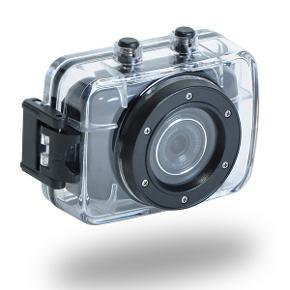 Høj kvalitet vandtæt 20M Sport HD DV videokamera. Lille og nemt installation.  Optagelse kan understøtte VGA (640x480) og HD (1280 x 720) tilstande.  Micro SD-kortet med 32 GB.  NP: 1000 kr.  Skærm: 2,0-tommer tutch-skærm  Lukker: Elektronisk lukker  Billedeformat: JPEG  Videoformat: AVI  Lyd: mikrofon  Batteri: 3.7V genopladeligt lithium integreret   Video om kameraet her: https://www.youtube.com/watch?v=T58uGv509XQ