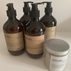 Diverse Meraki produkter Shampoo Balsam Bodywash Habdwas Badesalt  Samlet pris kr. 400  Uåbnet!