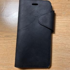 Lækkert ægte lædercover til iPhone 7 + med magnetlukning.  Bytter ikke.