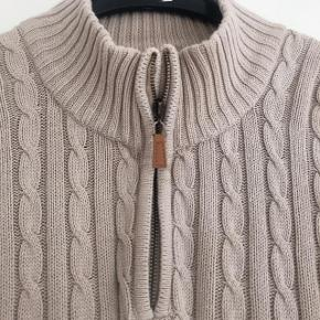 Bison striksweater i kabelstrik str M. Matr 100% bomuld
