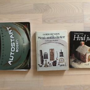 DIY bøger Autostartbogen, små antikviteter og hvid jule  15 kr pr stk