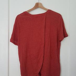 Coral coloured, open back. Size M.