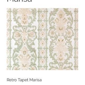 To ruller  (2x10m) Marisa retro strukturtapet sælges uåbnet (nypris 500kr pr rulle) fra retrovilla - virkelig smukt. Tapet kost og tapetklister kan tilkøbes for 200kr (aldrig brugt)