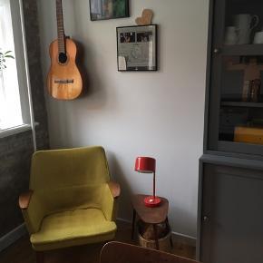 Retro lænestol med teaktræ.  Byd endelig og se øvrige annoncer