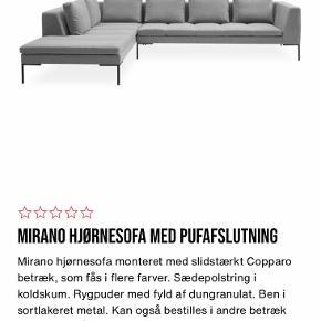 Sofaen er 1,5 år - fremstår som ny. Flere detaljer, mål og m.m. er på billede 2.