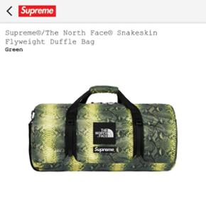 Supreme X The North Face Duffle Bag Snakeskin Green  ••• Emballage + Preuve d'achat fourni ✅