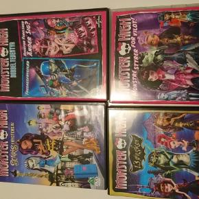 Brand: Monster High Varetype: Monster High dvd'er Størrelse: - Farve: -  40 kr/stk eller alle 4 for 150 kr