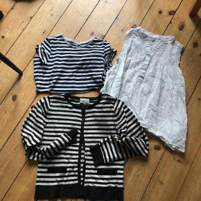 Stribet trøje og hvid top fra pomp de lux Stribet t-shirt fra H & M