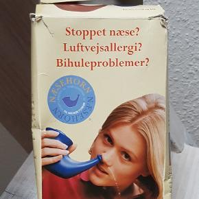 ( Næsehorn) til næseskylning til f.eks. allergi - bihulebetændelse og ondt i halsen. Aldrig brugt