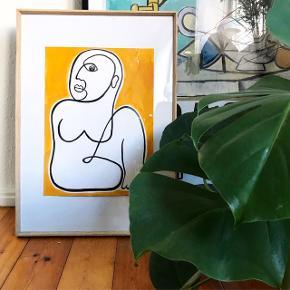 Plakat i A3, i den flotteste orange farve.  199,- uden ramme. Sendes med DAO for 36,-   Hvis man vi se andre billeder og tegninger lavet af mig, kan man følge med på min Instagram: linesbyline🤗