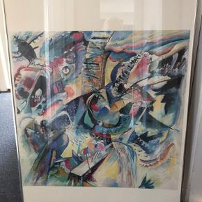 Vassily kandinsky plakat  i fin sølv ramme. Str. 87x61 cm.