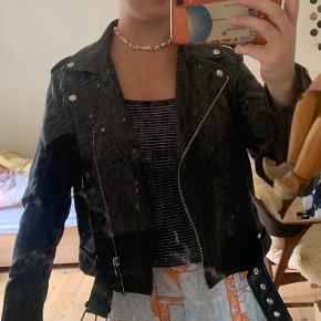 Zara pels- & skindjakke