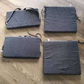 2 stk helt nye stolehynder Sædehynder: 40 x 43 cm Ryghynder: 28 x 45,5 cm
