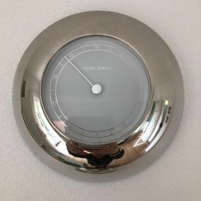 Georg Jensen ur, termometer, hygrometer, termometer. Sælges samlet