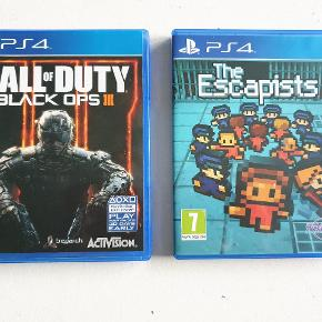 PS4 spil  Call of duty black ops 3 75 kr The Escapists 50 kr