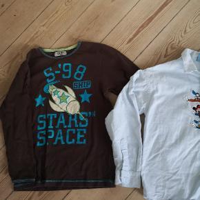 2 x fine bluse og skjorte str 122.