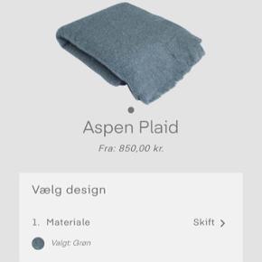 Lækker helt ny plaid fra alton&heim, vi kom til st købe forkert farve. Plaid er god kvalitet og består af Aspen, som er vævet i 75% mohair og 25%