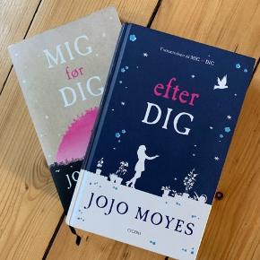 Jojo Moyes' to første bind i MIG før DIG-triologien.  Mig før dig er paperback og Efter dig er hardback. Sælges samlet for 75 kroner. Fra ikke-ryger hjem. Sender ikke, men kan afhentes i Aalborg eller Frederikshavn.