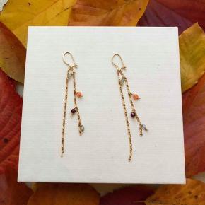 Hjemmelavet øreringe i modellen Lucca De fås både i guld og sølv. Smykkerne er også Nikkelfrie.
