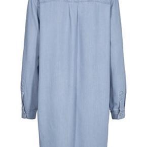 Ellen Denim skjortekjole.  Bryst: 2 x 55 cm Længde 100 cm  Mat.: 50% lyocell, 50% viscose