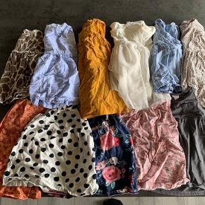 H&M, Name it kjoler, nogle af dem kun brugt 2-3 gange.   11 kjoler i alt 3 af dem har lang ærmer