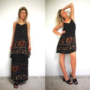 Lækre vintage sæt fra 90erne, med kjole og nederdel med slå om effekt.