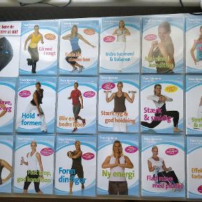 Blandede DVD'er fra iForm og Charlotte Bircow og yoga DVD'er. Nogle er uåbnede. 15 kroner pr. stk, eller tag dem alle for 300 kroner. Køber betaler fragt, men de kan også afhentes i Roskilde.